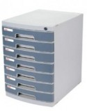 得力文具8877 七层硬塑文件柜(带锁)