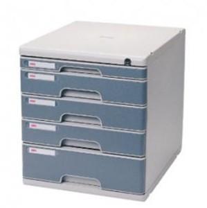 得力9765 五层硬塑文件柜(带锁)