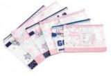 得力96181文件袋 网格拉链袋/B5网格拉便袋 得力文件袋