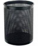 得力笔筒909 黑色圆形笔筒 得力文具办公用品