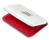 得力(DeLi)金属方形大号秒干印台(印油红色) 9893