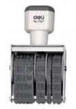 得力文具 7527 生产日期印 5mm 可调橡皮日期印章小 财务办公用品