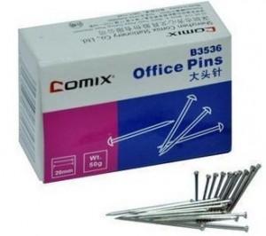 齐心 B3536 大头针 珠针(纸盒装)