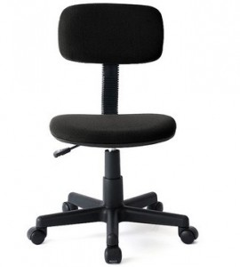 中背职员布椅(黑色/无扶手)  新品上架