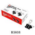 齐心B3608 黑色长尾夹 4#长尾夹 25mm长尾票夹 12只盒装
