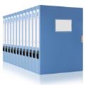 得力5643档案盒 3寸档案盒 资料盒 折叠式 档案盒