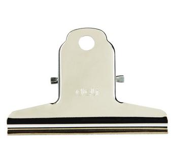商城正品 得力3#山形铁票夹 不锈钢夹子76mm 4只/袋 9533